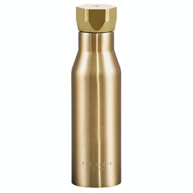 Ted Baker Hexagonal Lid Water Bottle - Pale Gold