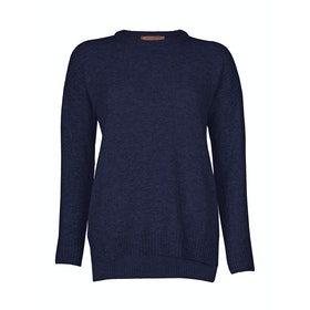 Troy London Lambswool Dame Sweater - Navy
