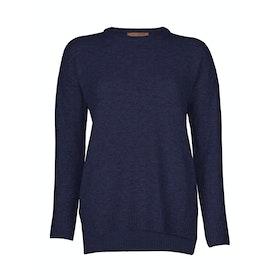 Troy London Lambswool Women's Sweater - Navy