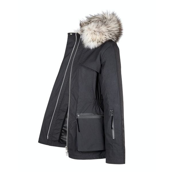 Troy London x Amanda Wakeley Elements Parka Fur Womens Wax Jacket