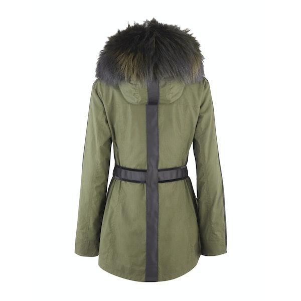 Troy London x Amanda Wakeley Elements Parka Fur Women's Wax Jacket