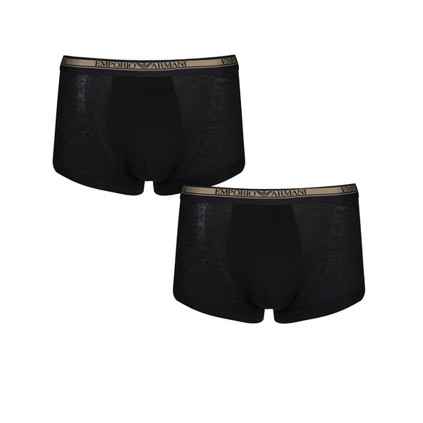 Emporio Armani Knit 2 Pack Trunk Boxer Shorts