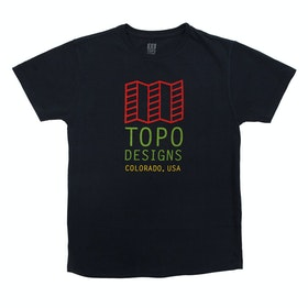 Topo Designs Original Logo T Shirt - Navy