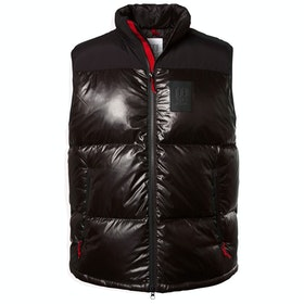 Topo Designs Big Puffer Weste - Black
