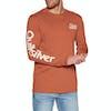 Quiksilver Bouncing Heart Long Sleeve T-Shirt - Burnt Brick