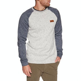 Sweat Quiksilver Keller Block Crew - Light Grey Heather