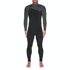 Quiksilver 4/3mm Highline Ltd Chest Zip Wetsuit - Black Jet Black