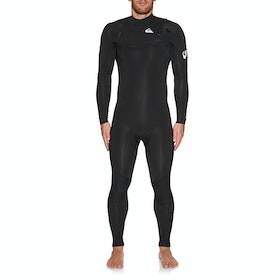 Quiksilver 4/3mm Syncro Chest Zip Wetsuit - Black White