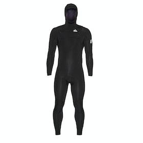 Combinaison de Surf Quiksilver 5/4/3mm Syncro Chest Zip Hooded - Black/White