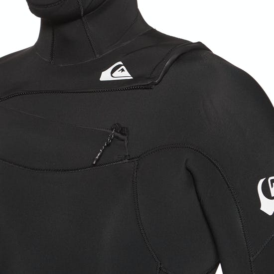Quiksilver 5/4/3mm Syncro Chest Zip Hooded Wetsuit