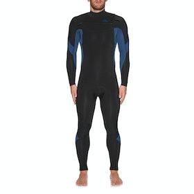 Quiksilver 5/4/3mm Syncro Chest Zip Wetsuit - Black Black Iodine Blue Iodine