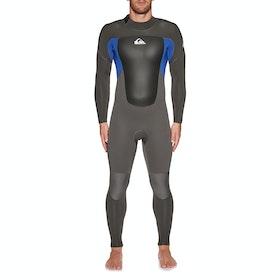 Quiksilver Prolouge 5/4/3mm Back Zip Wetsuit - Jet Black Nite Blue