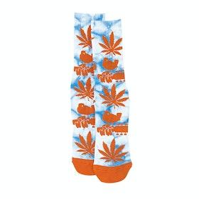 Huf Woodstock Plantlife Socks - Blue