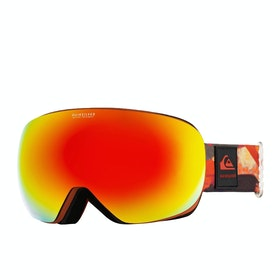 Quiksilver QSR Snow Goggles - Barn Red Matte Painting ~ Sonar Multilayer Red