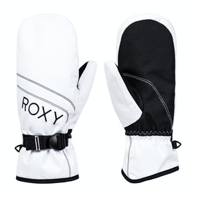 Roxy Jetty Solid Mitt Womens Snow Gloves - Bright White