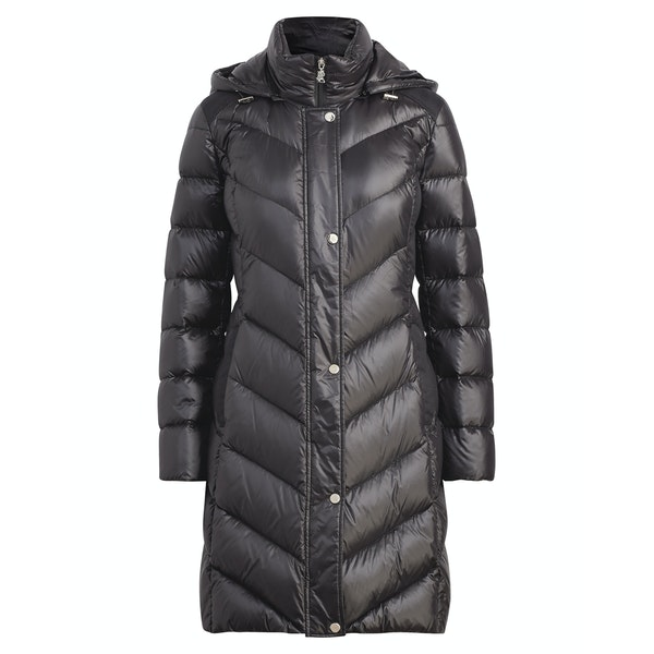 Ralph Lauren Chevron Hood Soft Down Jakke