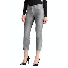 Lauren Ralph Lauren Premier Straight Ankle High Rise Jeans - Bright Pewter Wash