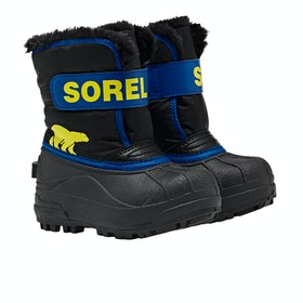 Sorel Snow Commander Kinder Stiefel - Black Super Bl