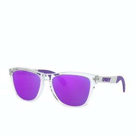 Oakley Frogskins Mix Sunglasses - Polished Clear~violet Iridium Polarized