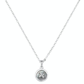 Ted Baker Blenra Mother Of Pearl Button Pendant Necklace - Silver Pearl