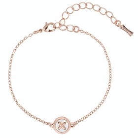 Ted Baker Brenna Mother Of Pearl Button Bracelet - Rose Gold Pearl