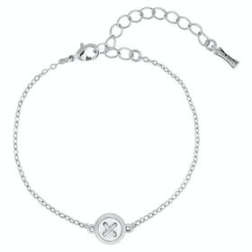 Ted Baker Brenna Mother Of Pearl Button Bracelet - Silver Pearl