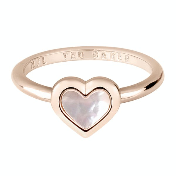 Ted Baker Hanlet Mother Of Pearl Heart Ring