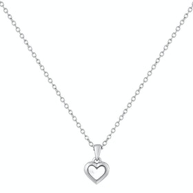 Ted Baker Harriot Mother Of Pearl Heart Pendant Necklace - Silver Pearl