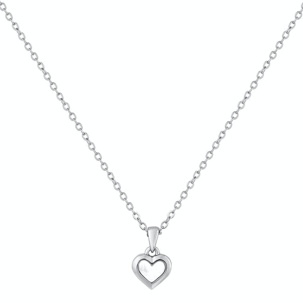 Ted Baker Harriot Mother Of Pearl Heart Pendant Necklace