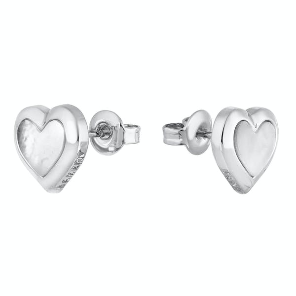 Ted Baker Heila: Mother Of Pearl Heart Stud Earrings