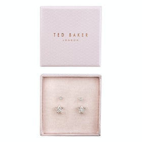 Ted Baker Naiya Nano Stud and Star Earring Jewellery Gift Set - Rose Gold Crystal