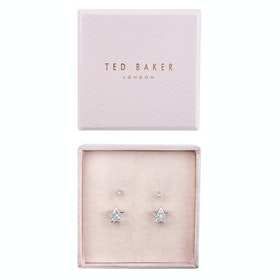 Ted Baker Naiya Nano Stud and Star Earring Jewellery Gift Set - Silver Crystal