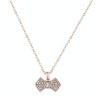 Ted Baker Sanra Solitaire Pave Bow Pendant Necklace