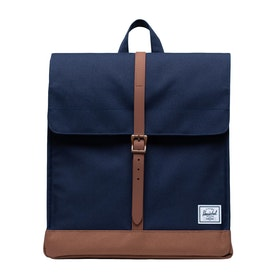 Herschel City Mid-Volume Backpack - Peacoat Saddle Brown