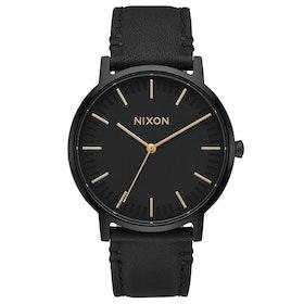Reloj Nixon Porter Leather - All Black Gold