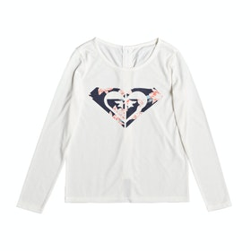 Roxy One Evening Girls Long Sleeve T-Shirt - Snow White