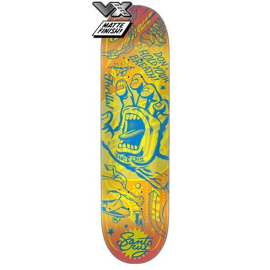 "Santa Cruz Vx Flash Hand 8.25"" Skateboard Deck"