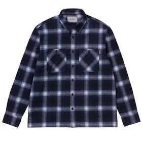 Carhartt Halleck , Skjorta - Check Dark Navy