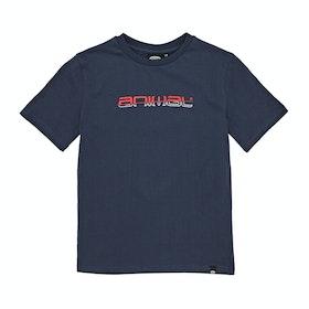 T-Shirt a Manica Corta Animal Sketchy Graphic - Indigo Blue