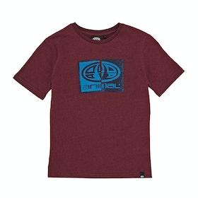 Animal Thoron Graphic Boys Short Sleeve T-Shirt - Rio Red Marl