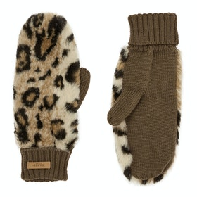 Barts Dorothy Mitts Womens Gloves - Leopard
