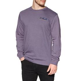 RVCA Screaming Bat Long Sleeve T-Shirt - Purple Jade