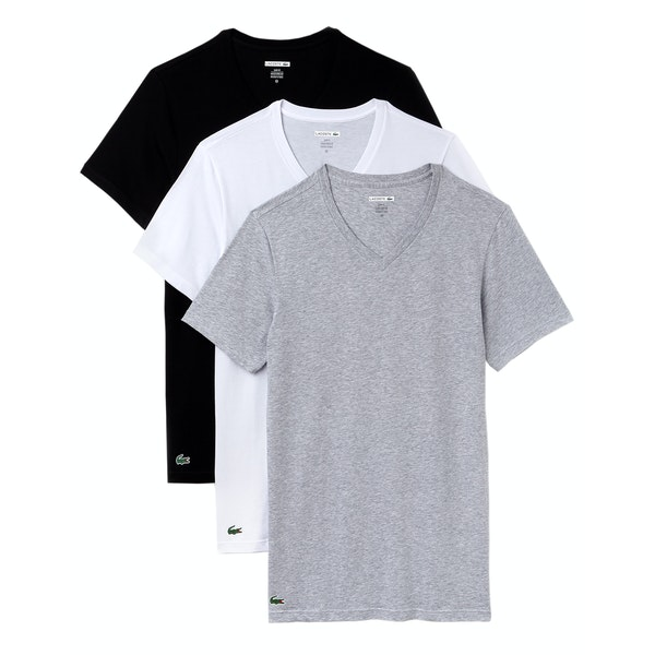 Lacoste V Neck Multi Pack Short Sleeve T-Shirt