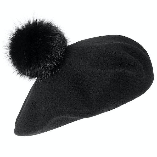 Helen Moore Pom Pom Beret Damen Hut