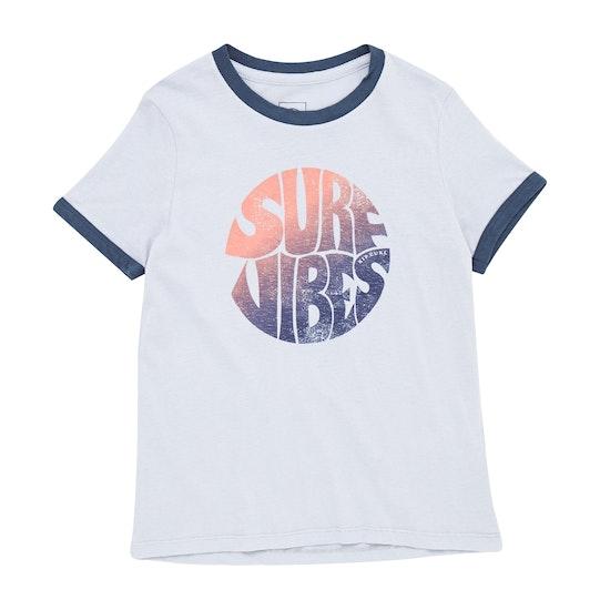 T-Shirt de Manga Curta Girls Rip Curl Good Vibrations