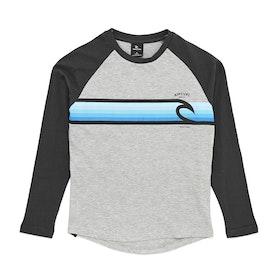 Rip Curl Rainbow Raglan Boys Long Sleeve T-Shirt - Cement Marle