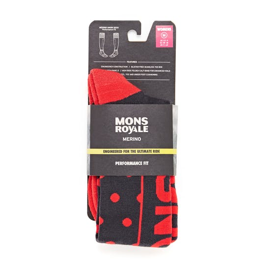 Mons Royale Tech Cushion 9 Iron Womens Snow Socks