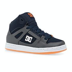 Chaussures DC Pure High Top - Grey Dark Navy