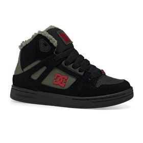 Chaussures DC Pure Hight Top Winter - Black Olive Night