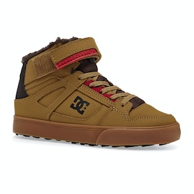 Chaussures DC Pure High Top WNT EV - Wheat Chocolate